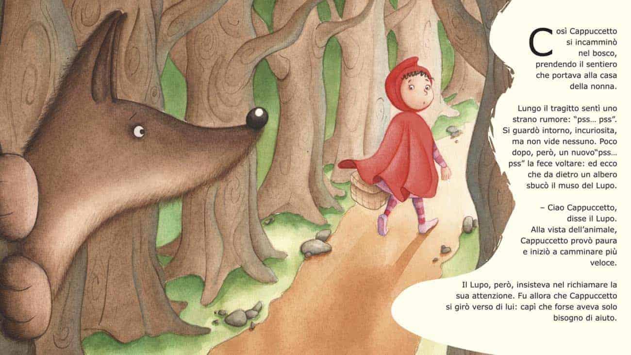 Cappuccetto Rosso Animalista illustrazione