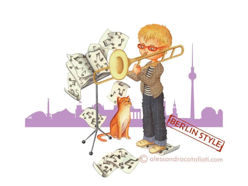 Illustrazione ispirata a Berlino