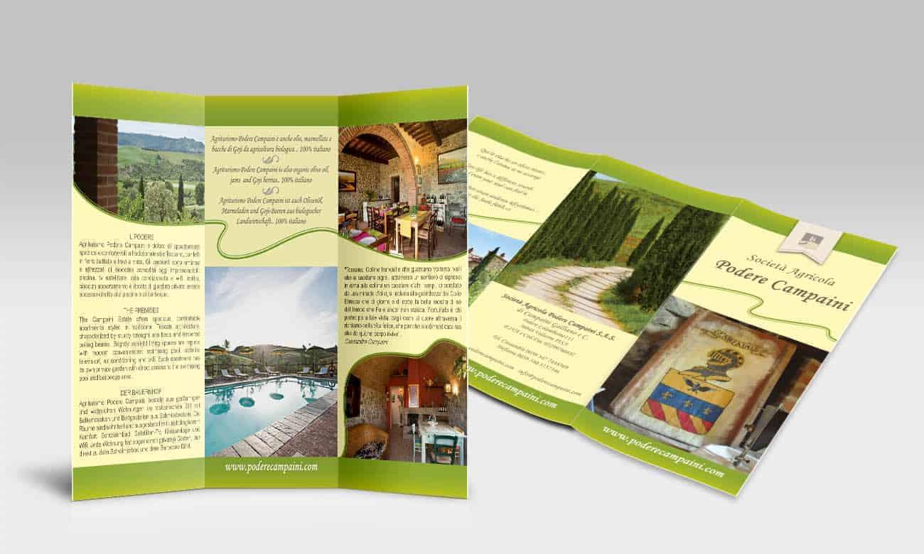 Progettazione grafica per Brochure design 3 ante
