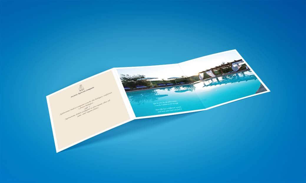 Brochure design square interno