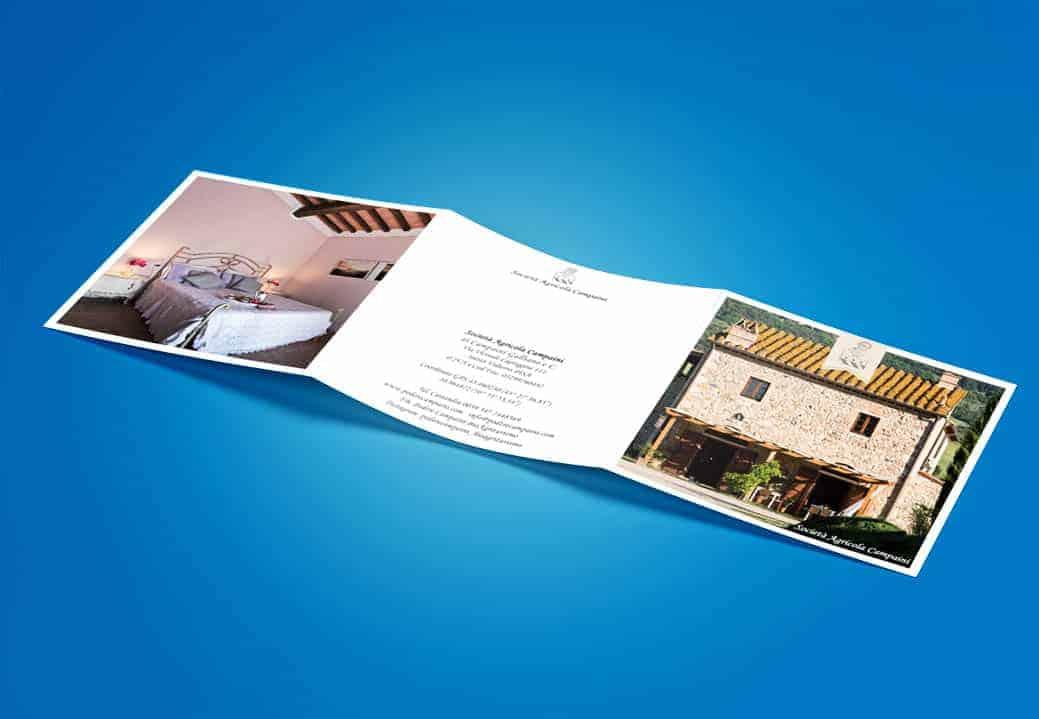 Brochure design 3 folded square