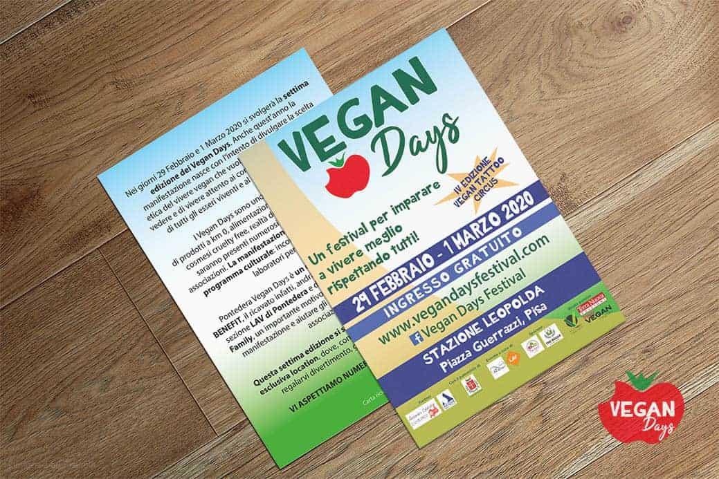 Progettazione grafica flyers per Vegan Days
