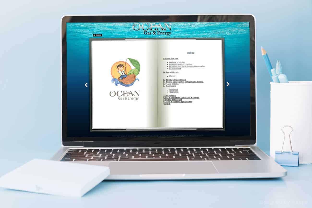 Logo Ocean Gas and Energy esempio di pagina web