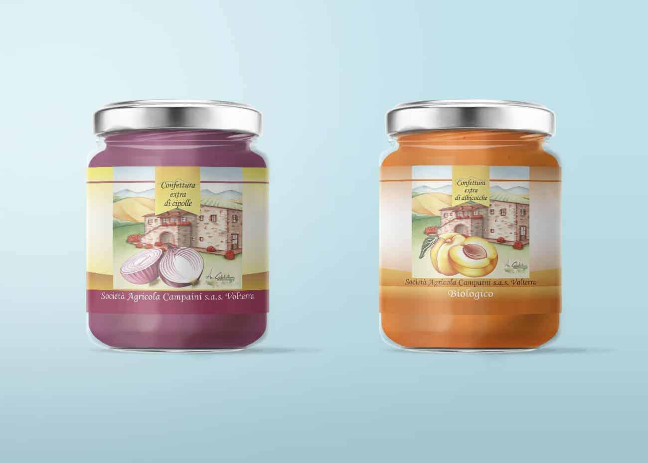 Etichette marmellata cipolle e albicocche