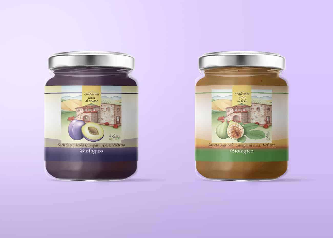 Etichette marmellata Prugne e Fichi