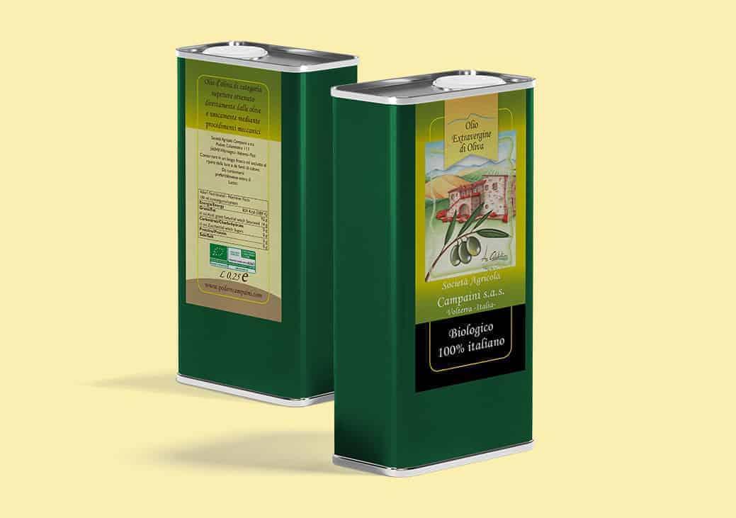 Etichetta per olio d'oliva