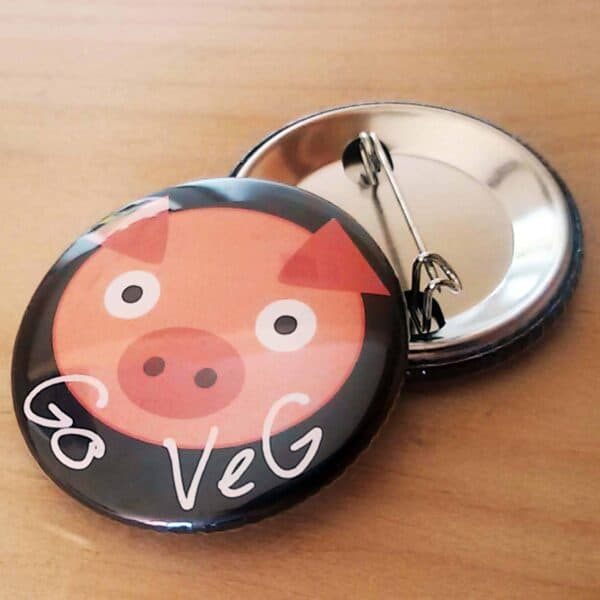 Pin button with Piggy Picture