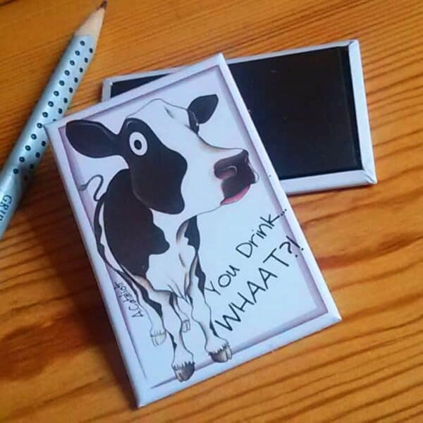 Fridge magnet with Cow picture