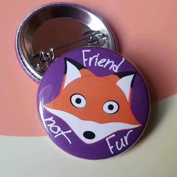 Pin Button with a Fox Picture