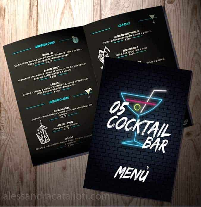 Layout design for a menu