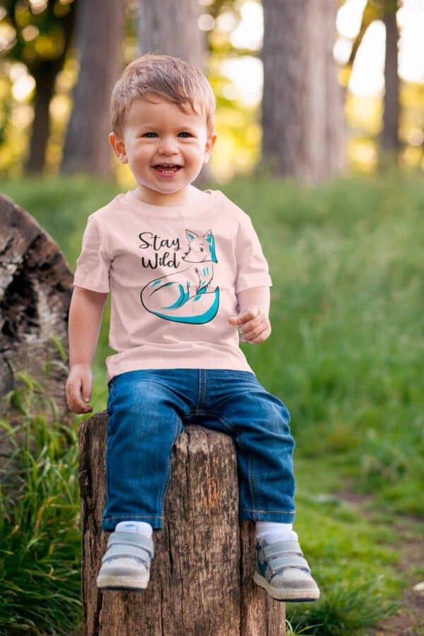 baby t-shirt with a fox print