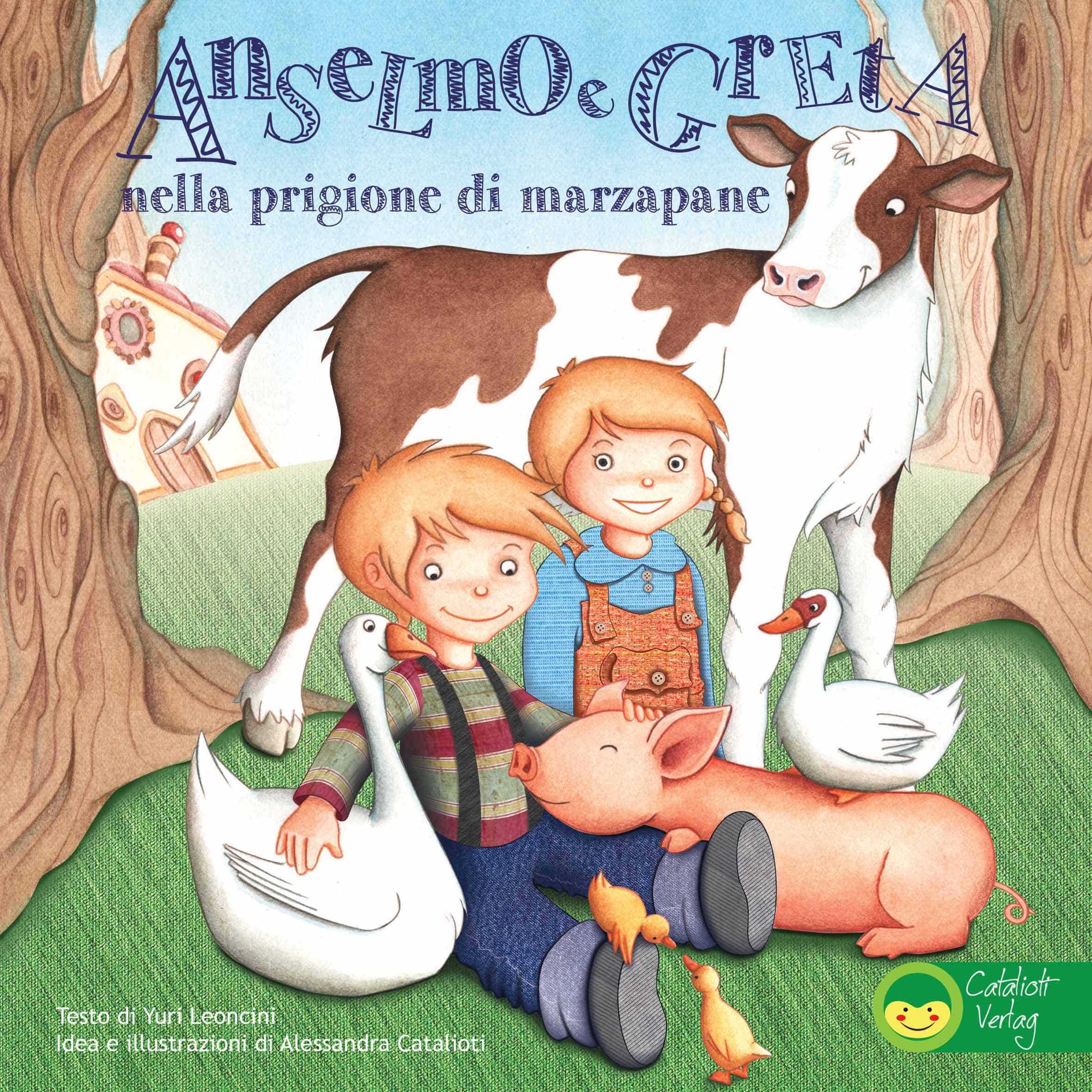 Illustrated children's book Anselmo e Greta