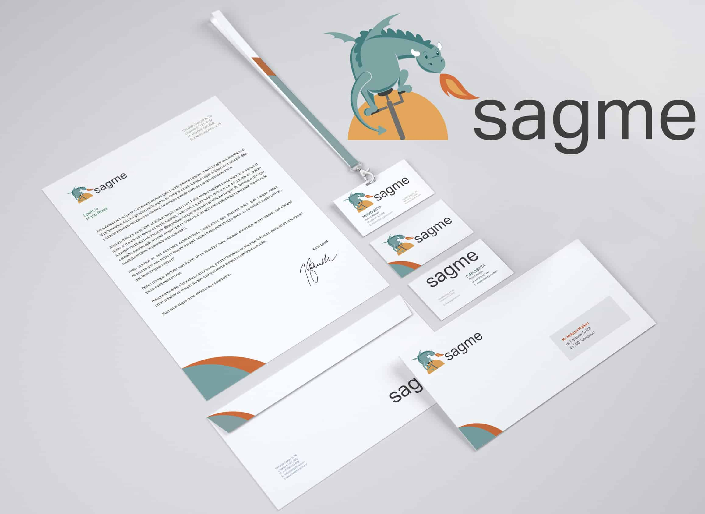 Corporate Identity Logo Design SagMe